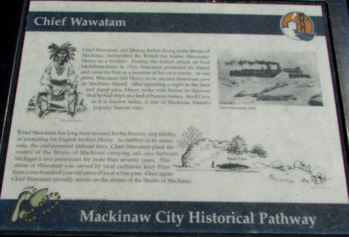 Wawatam Park Historical Pathways sign