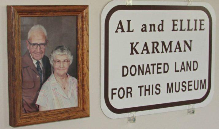 Al and Ellie Karman Land benefactors for Crivitz museum