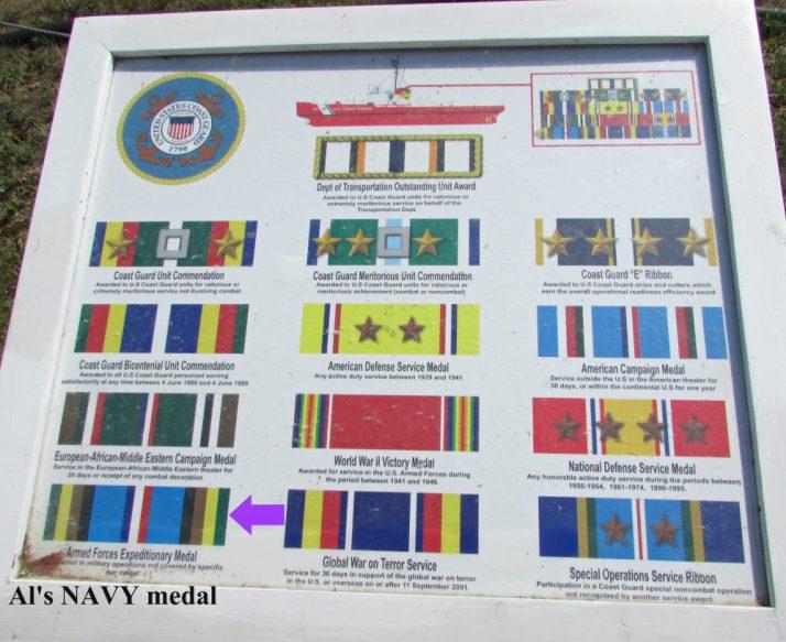Al's NAVY Medal