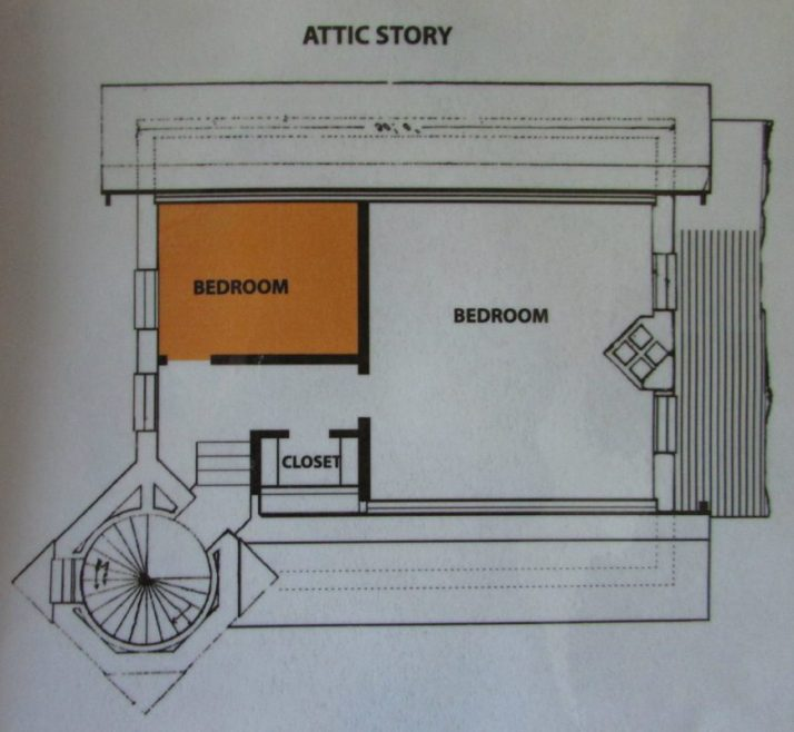 Attic level map McGulpin Lighthouse