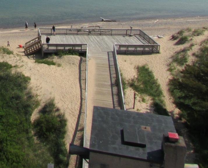 Boardwalk to Lake Superior shore