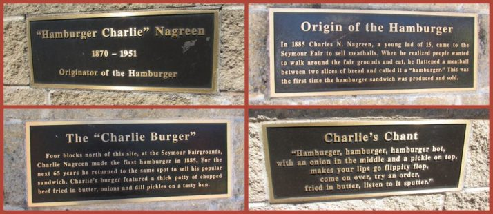 Charlie statue plaques