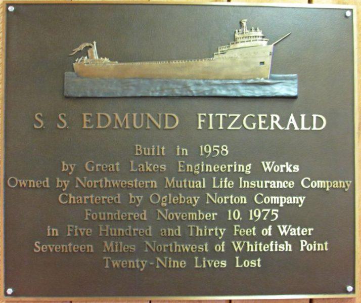 Edmund Fitzgerald plaque