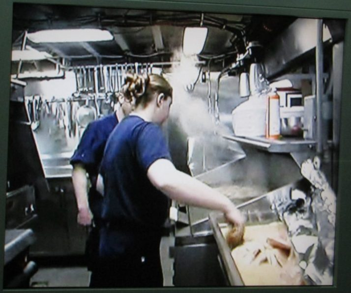 Galley in operation on Icebreaker