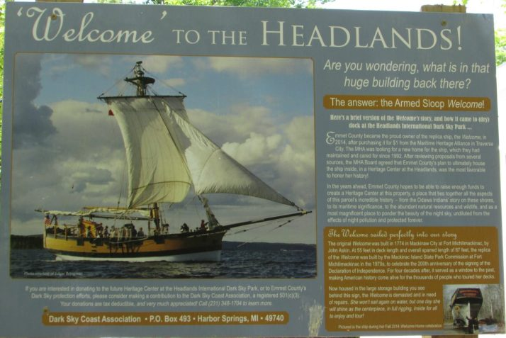 Headlands Welcome sign