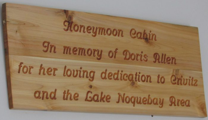 Honeymoon Cabin in Memory of Doris Allen