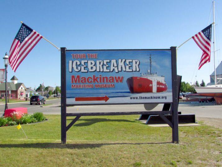 Icebreaker Mackinaw sign