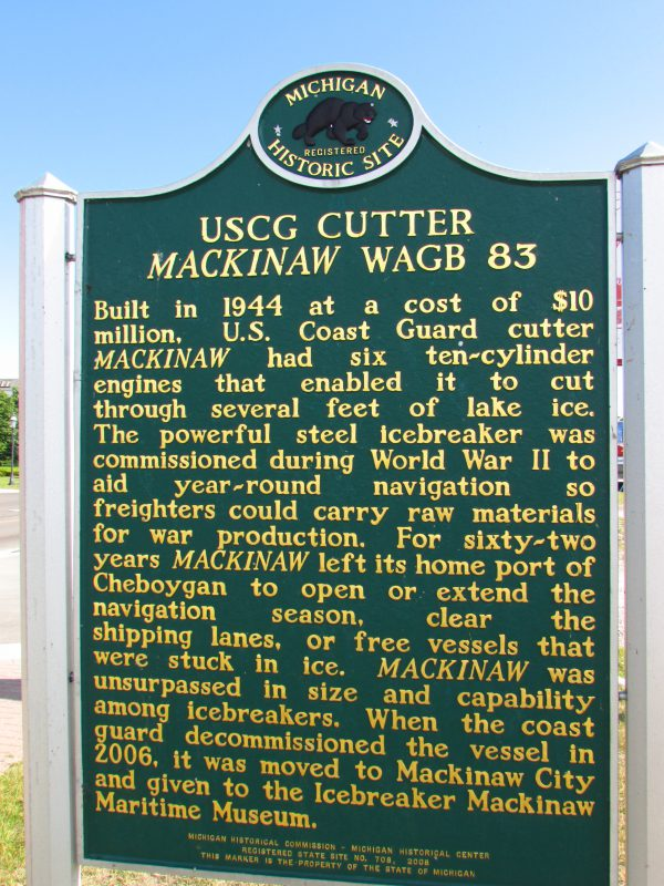 Icebreaker Mackinaw marker
