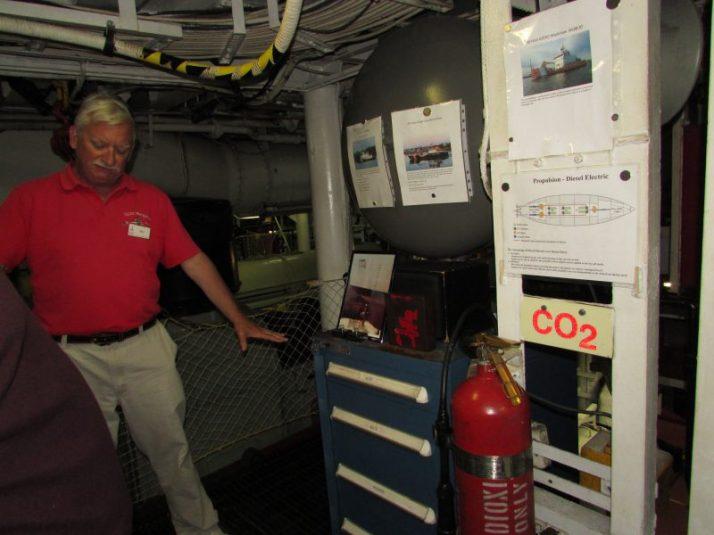 Jim on Icebreaker describing engine