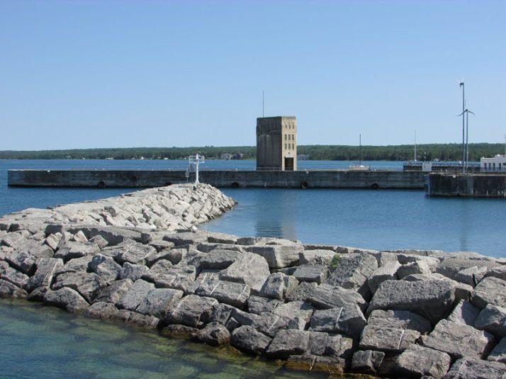 Railroad Dock in Mackinaw City