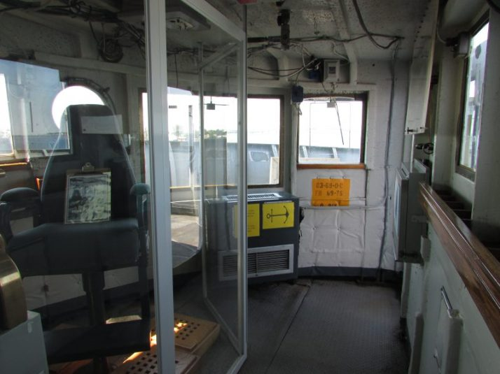 Inside Pilot House on Icebreaker