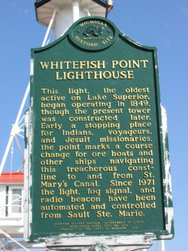 Whitefish Point lighthouse marker