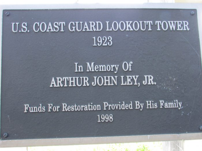 Coast Guard Lookout Tower sign
