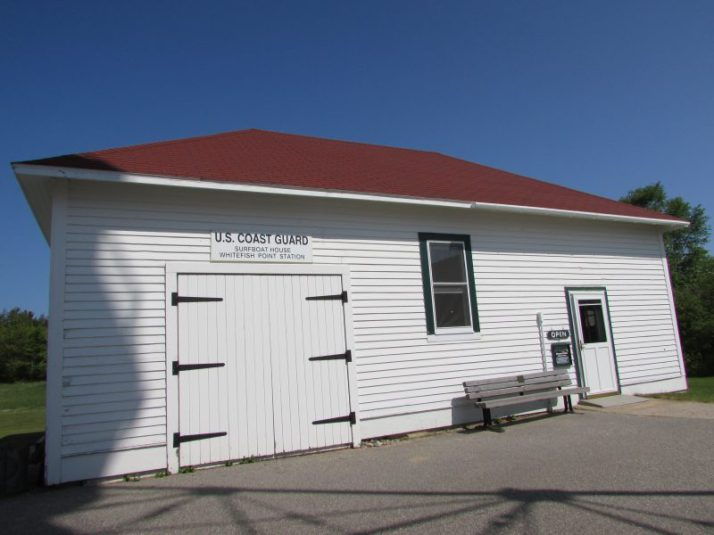 Coast Guard Surf Boat Building at Whitefish Point