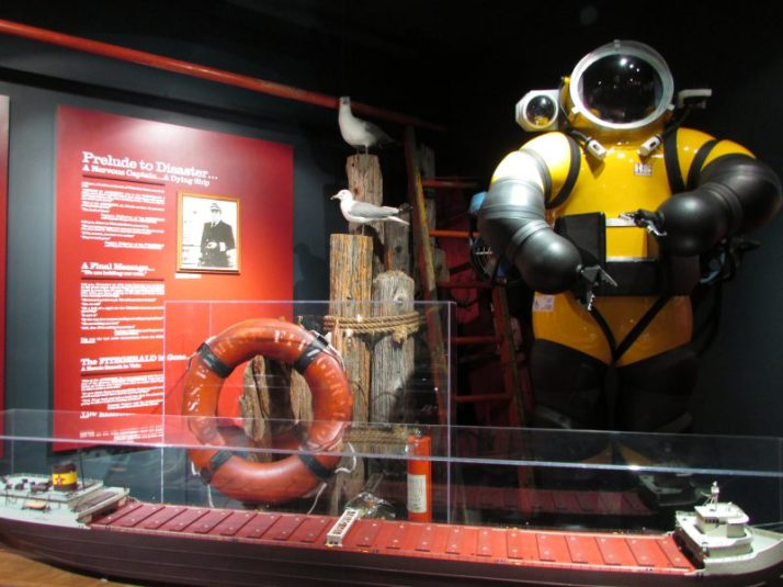 Edmund Fitzgerald Display at Shipwreck Museum