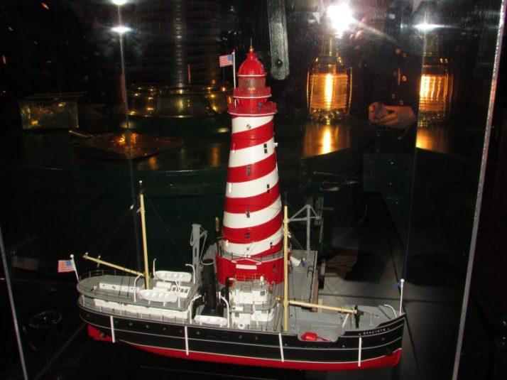 Lighthouse and ship display