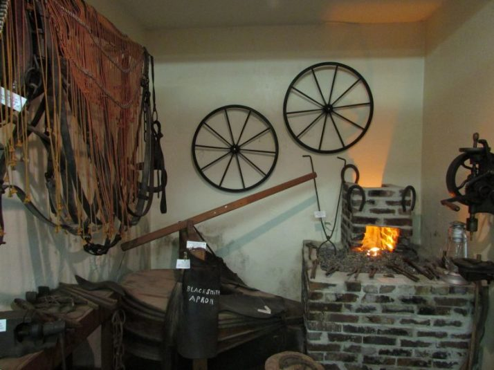 Blacksmith Display at Peshtigo Fire Museum