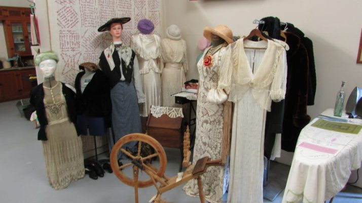 Womens fashion display at Crivitz museum