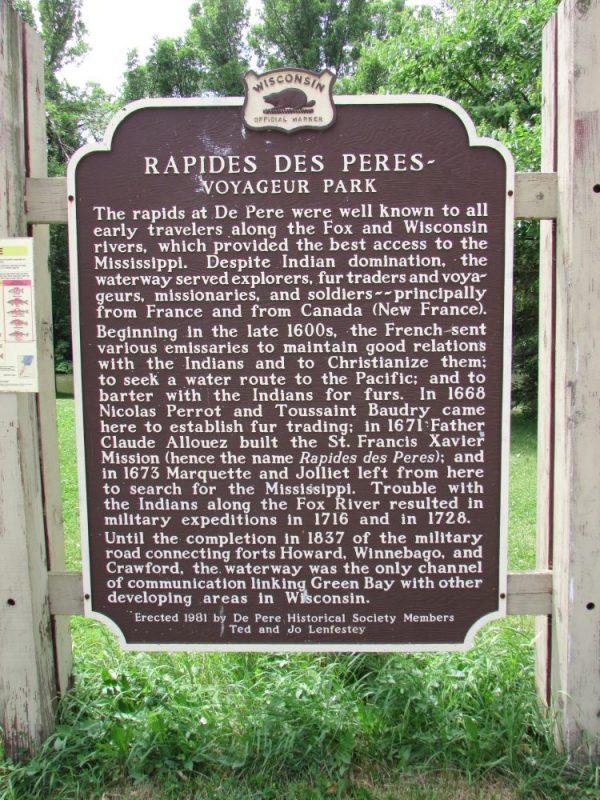 Voyageur Park historical marker