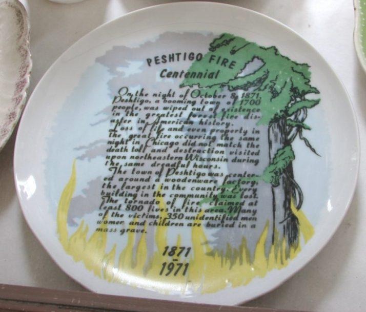 Peshtigo Fire Centennial Plate