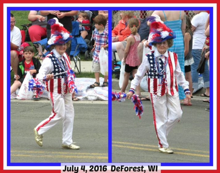 Vi Bergum in DeForest July 4 parade