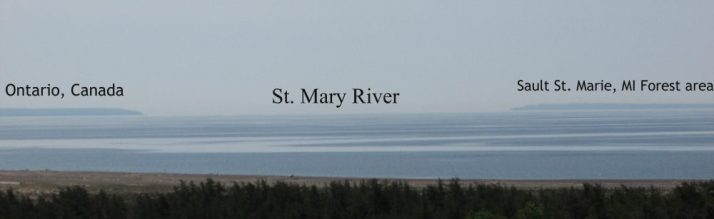 View of St. Mary River from Lighthouse