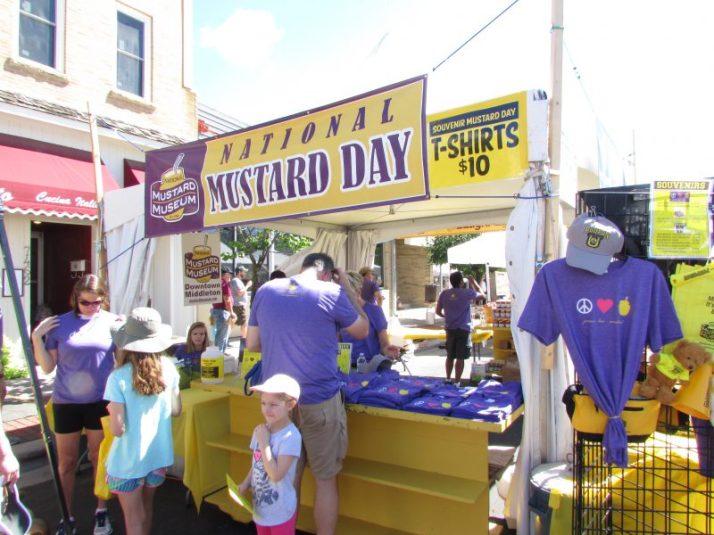 Souvenir tend at Mustard Festival