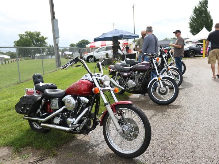 Motorcycles at Stoughton Coffee Break festival