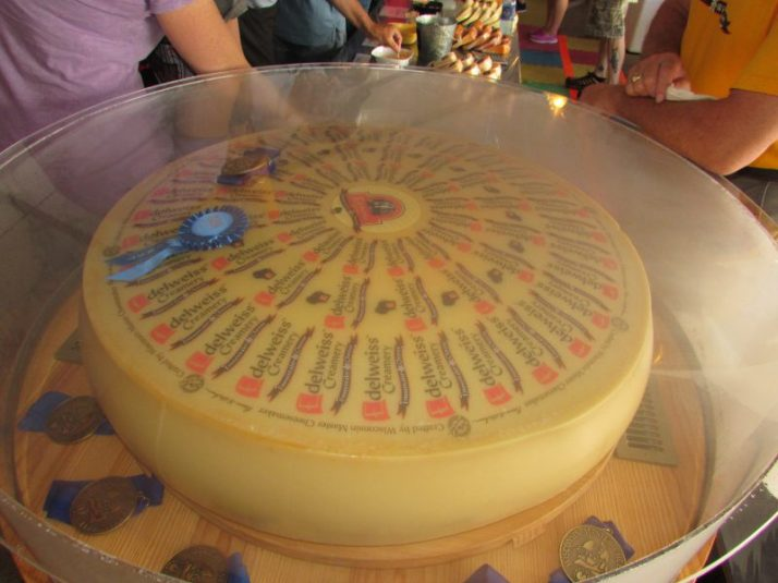 Swiss Cheese Wheel at Cheese Days