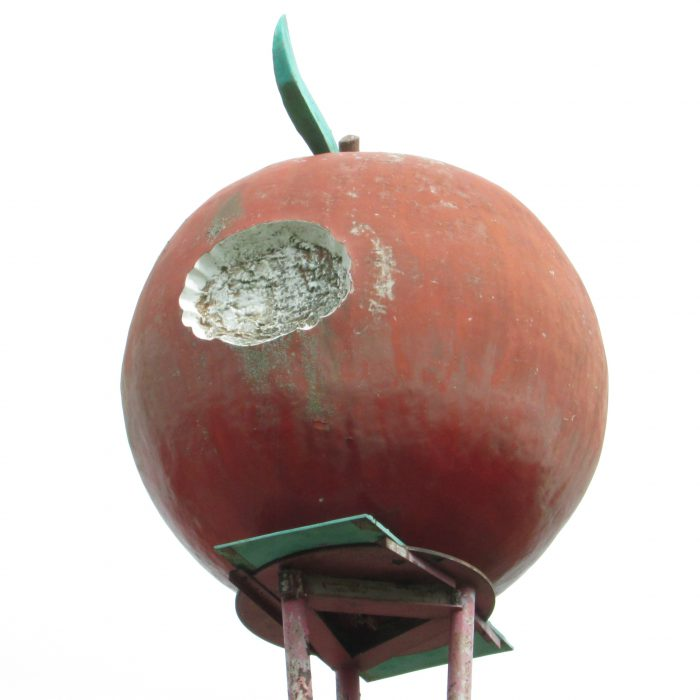 red-apple-on-tower
