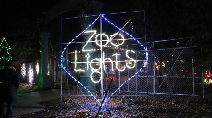 Zoo Lights sign