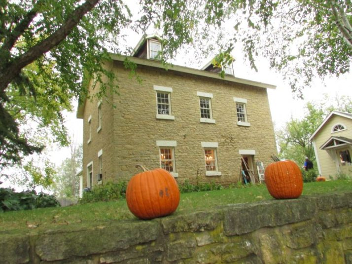 Mill and pumpkins in Paoli