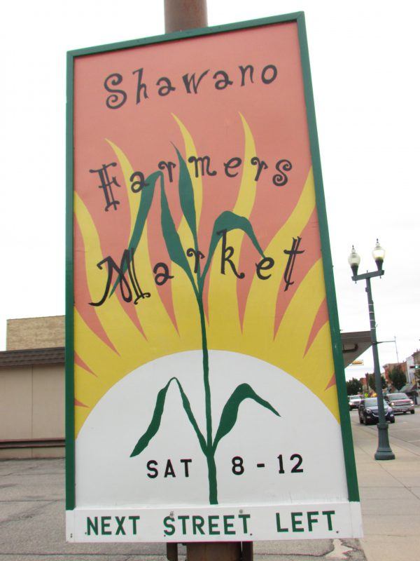 Shawano Farmers Market sign