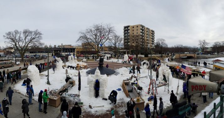 View from Rivera balcony of Winterfest