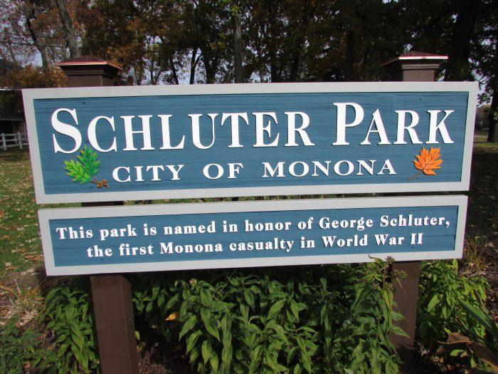 Schluter park in Monona