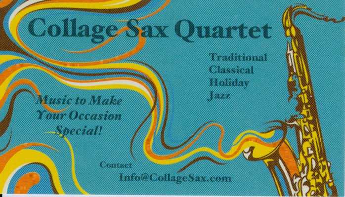 Collage Saxaphone Quartet card