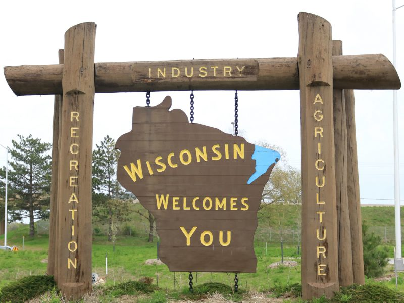 wisconsin sign welcomes published