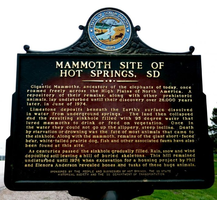 The mammoth site in hot springs south dakota adventures in travel a walkway with informative signs lead to the spacious building enclosing the dig site from the weather sciox Image collections